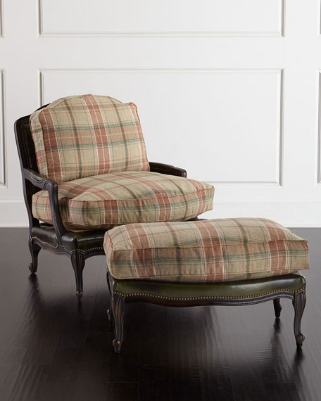 Old Hickory Tannery Gideon Bergere Chair Amp Ottoman