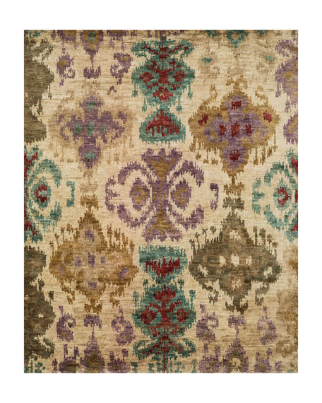 "Majesty Hand Knotted Jute Rug, 7.9"" x 9.9"""