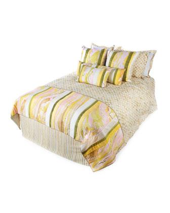 Parchment Stripe & Parchment Check Bedding
