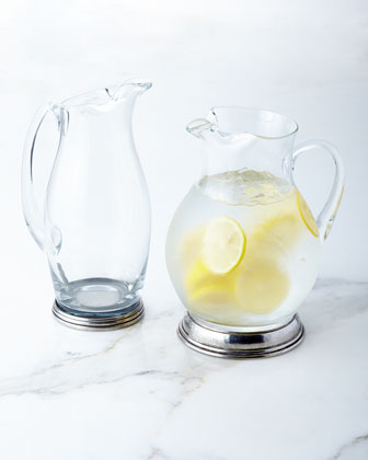Glass & Pewter Pitchers