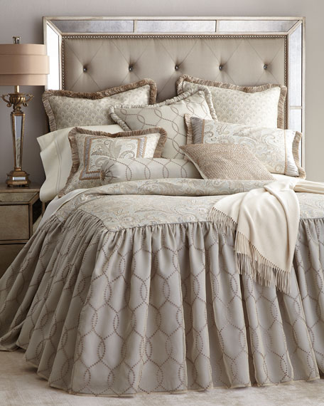 Queen Cynthia Skirted Coverlet