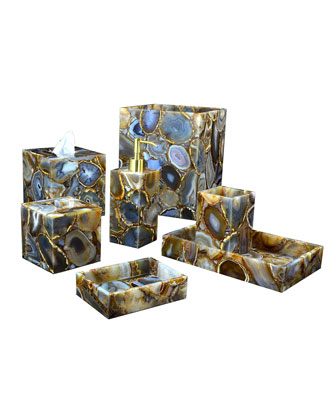 Taj Agate Vanity Accessories