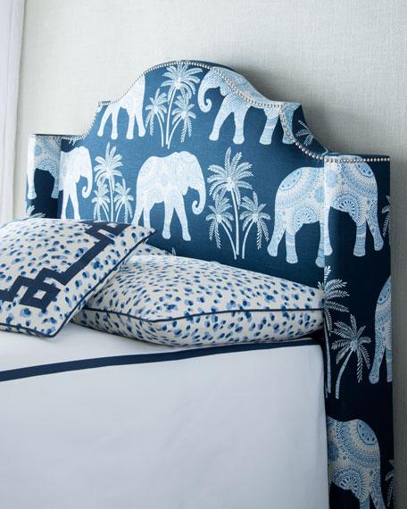 King Ellie Elephant-Print Duvet Cover