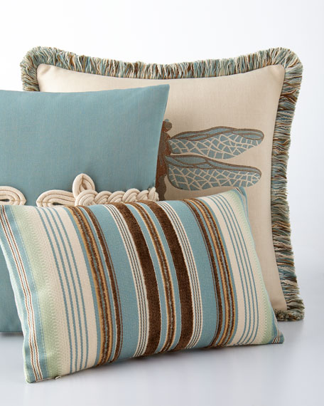 Elaine Smith Aqua And Chocolate Outdoor Pillows