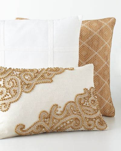 Golden & White Pillows