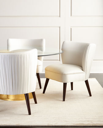 Lilian Dining Table & Gemma Pleated Dining Chair