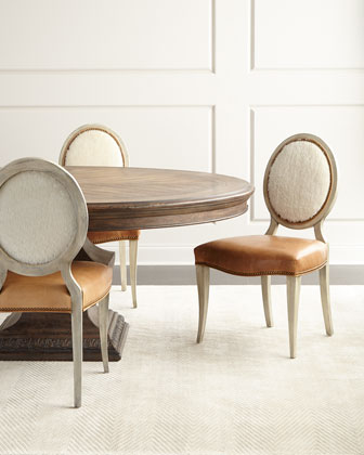 Oren Dining Chair & Donabella Dining Table