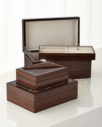 Studio Brown Lacquer Storage & Jewelry Boxes