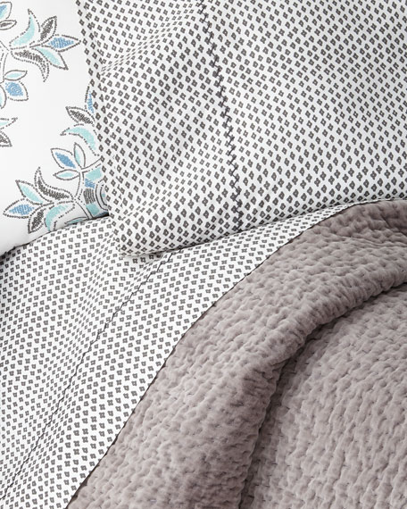 Queen Bahari Gray Coverlet