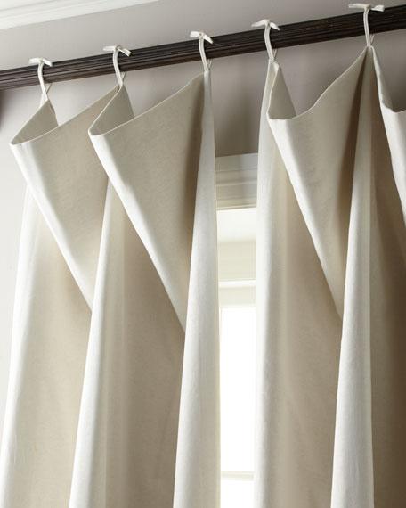 """Each 132""""L Tie-Top Curtain"""