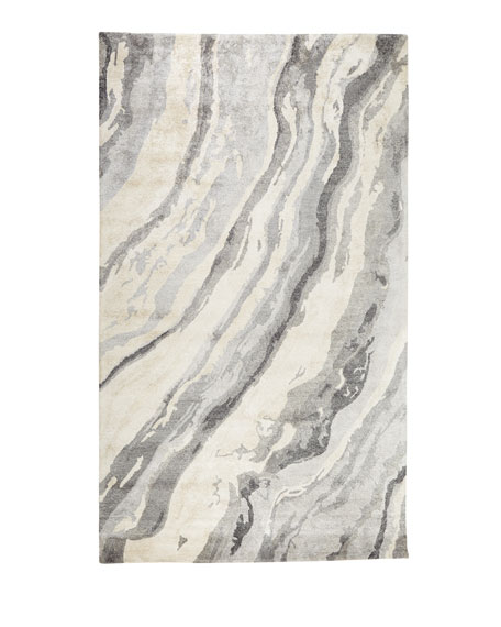 Gray Marble Rug, 8' x 11'