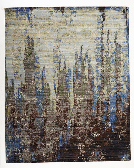 "Moody Blues Rug, 5'6"" x 8'"