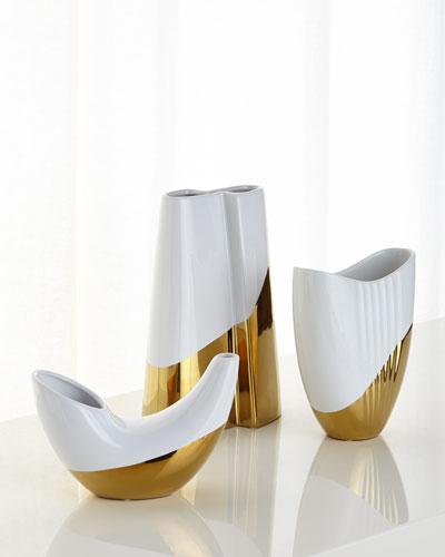 Metallic Dipped Vases