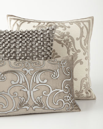 Gray And Pewter Decorative Pillows