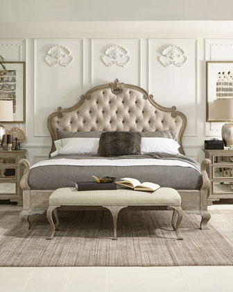 bed bernhardt bedroom furniture king tufted queen french beds ventura campania luxury headboards horchow marcus neiman mirrored designer collection canopy