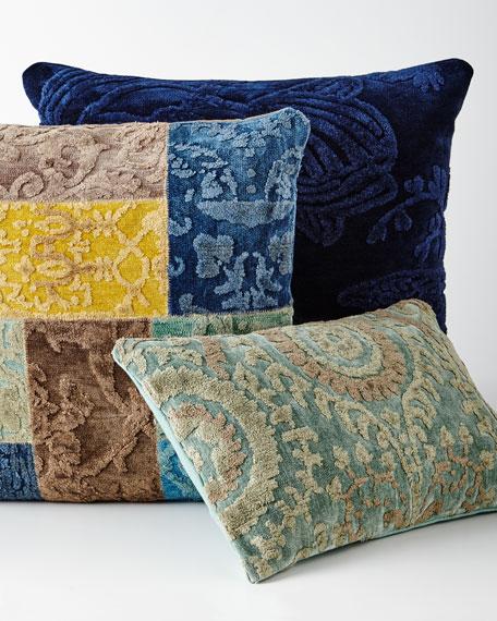 Indigo Blue Down-Filled Pillow