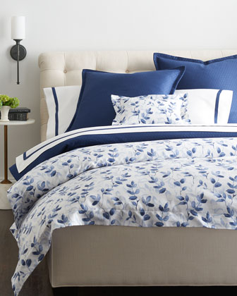king oxford border flat sheet