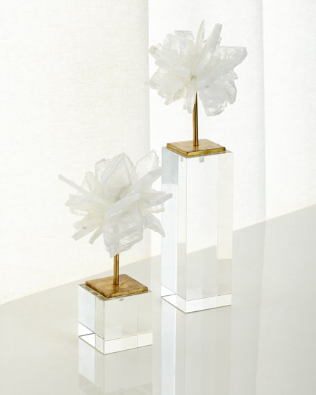 Small Selenite Blossom on Stand