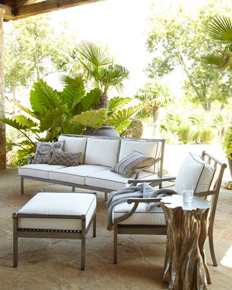 Charlotte Outdoor Lounge Chair & Ottoman