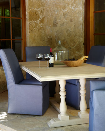 Blue Bennett Outdoor Dining Chairs