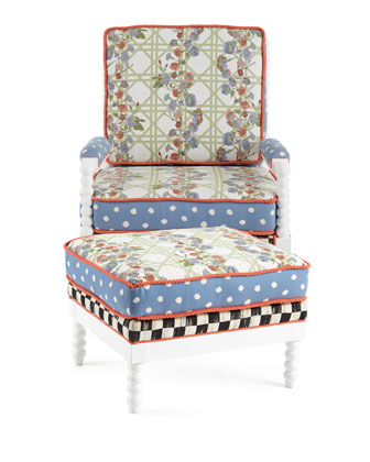 Morning Glory Outdoor Chair & Ottoman