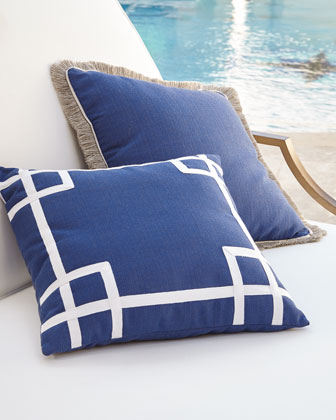 Navy Outdoor Pillows