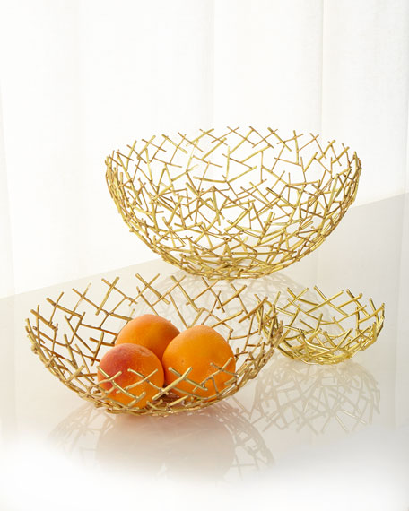 Decorative Thatch Bowl, Large