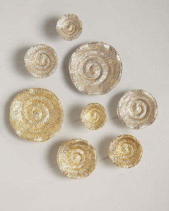 Escargot Wall Hangings, Set of 4