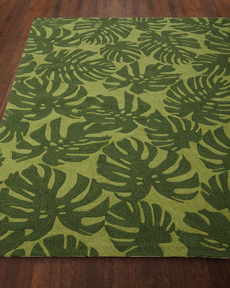 Fond Leaf Indoor/Outdoor Rug, 7'6 x 9'6""