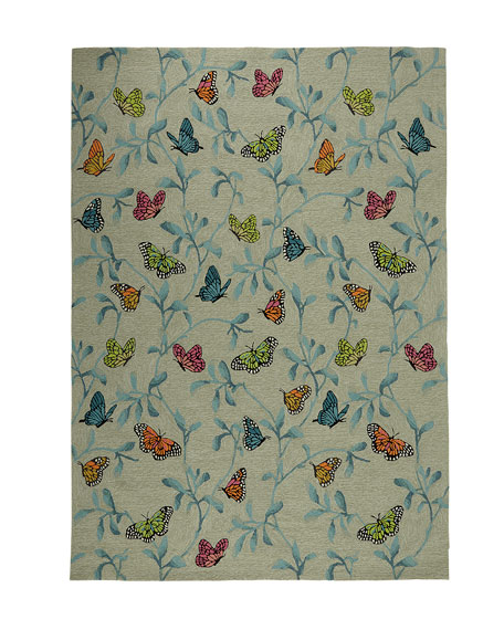 """Butterfly Blossom Indoor/Outdoor Rug, 7'6"""" x 9'6"""""""