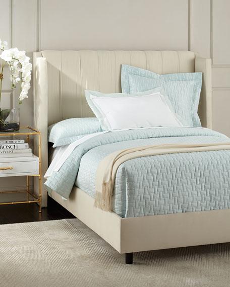 Somerton Queen Wingback Bed