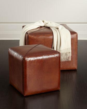 Boland Leather Ottoman