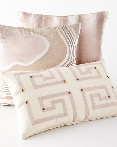 Venice Snow Striped Pillow