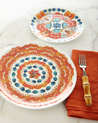 Oceanica Melamine Dessert/Salad Plate and Matching Items