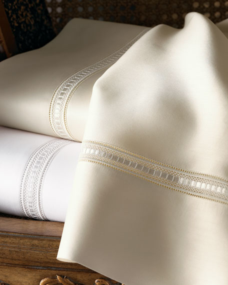 Full/Queen Macrame Lace Duvet Cover