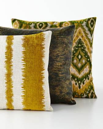 Kamitra, Gilded Gator & Zahara Decorative Pillows