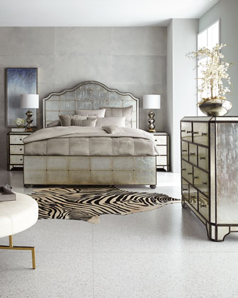 Visage Eglomise Mirrored Bedroom Furniture