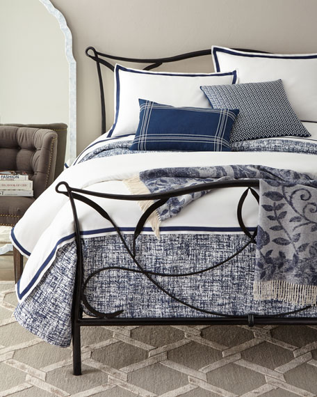 Oxford Border Duvet Cover, Queen