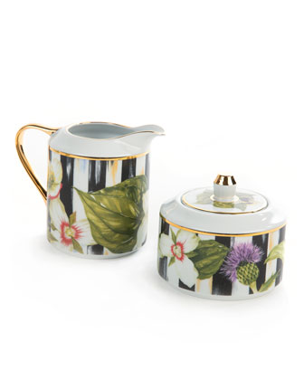 Thistle & Bee Creamer & Sugar Bowl