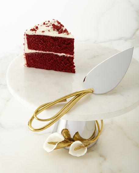 Calla Lily Cake Server