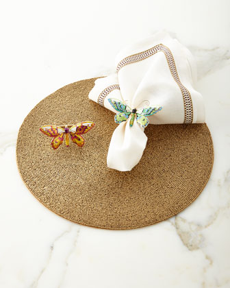 Round Bead Placemat, Nomad Napkin & Butterfly Napkin Ring