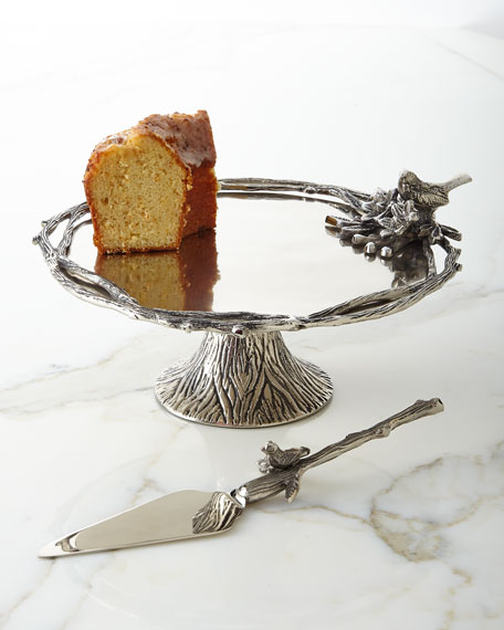 Birds & Branches Footed Cake Stand
