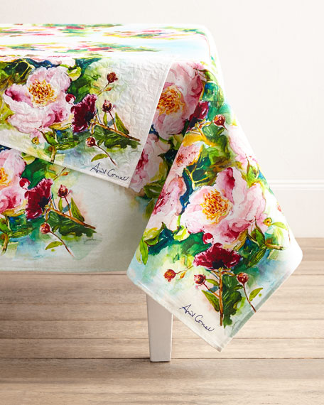 """Peony Table Runner, 72""""L"""