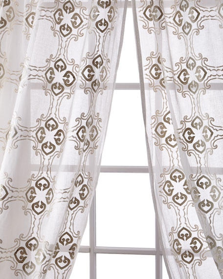 Frazer Cotton Organdy Curtain, 96""