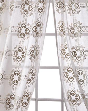 Frazer Cotton Organdy Curtain, 108