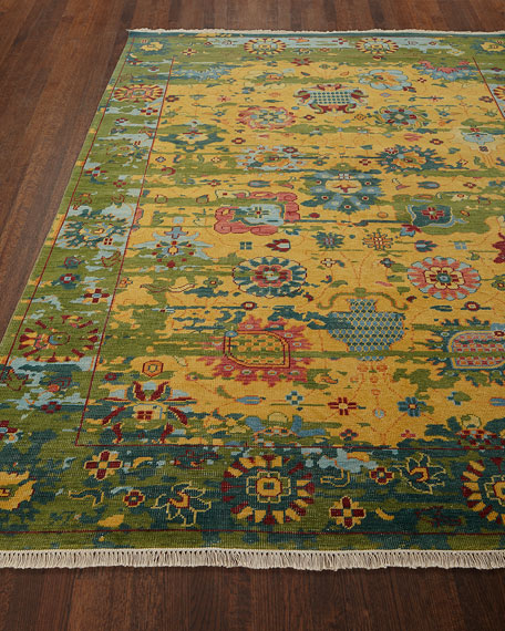Eden Hand-Knotted Wool Rug, 9' x 13'