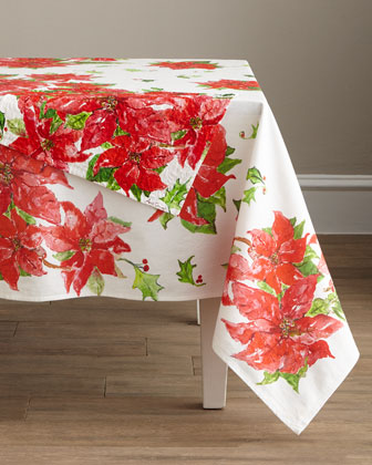 Poinsettia Dining Tablecloth and Matching Items