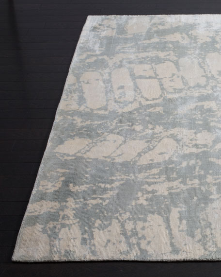Drizzling Mist Hand-Loomed Rug, 6' x 9'