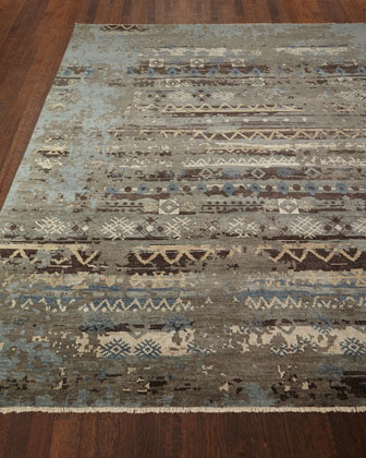 Denley River Hand-Knotted Rug, 4' x 6'  and Matching Items