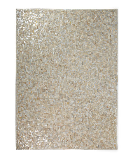 Maxie Metallic Hairhide Rug, 8' x 10'